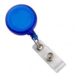 Roller s navijákem a klipsem, držák na ID s drukem modrý