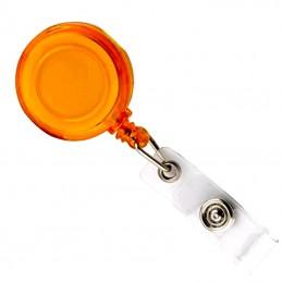Roller s navijákem a klipsem, držák na ID s drukem oranžový