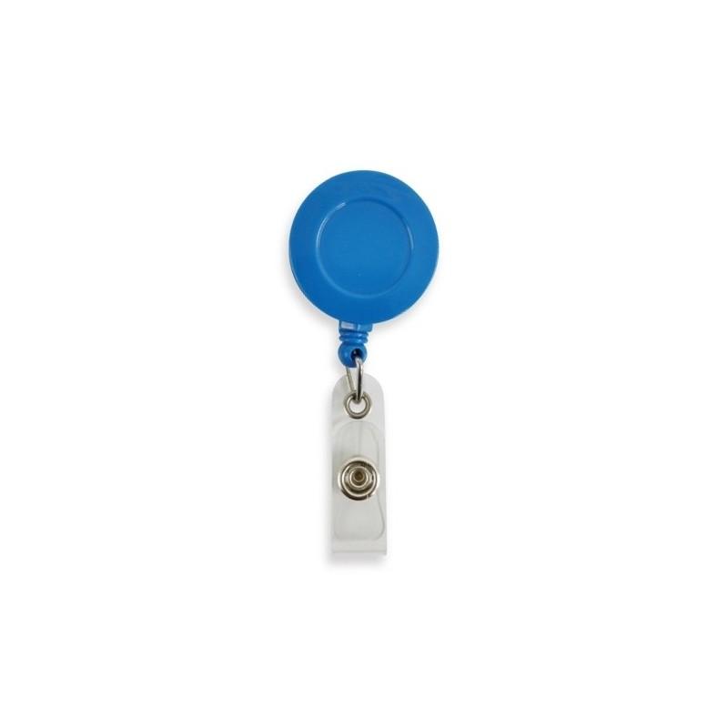 Roller navíjecí s klipem, držák na ID s patentkou světle modrý