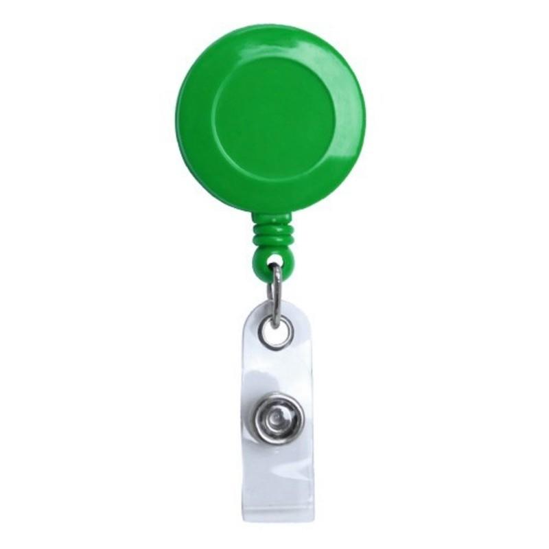 Roller navíjecí s klipem, držák na ID s patentkou zelený