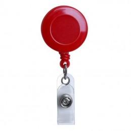 Roller navíjecí s klipem, držák na ID s patentkou červený