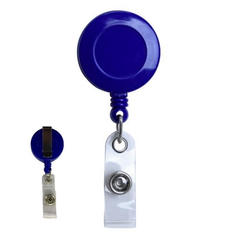 Roller navíjecí s klipem, držák na ID s patentkou modrý