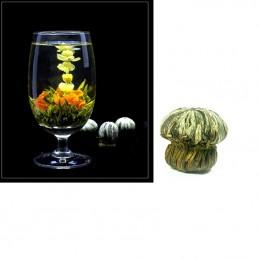 Kvetoucí, květinový čaj, Bai He Xian Zi, jasmínový květ, zelený čaj, lilie
