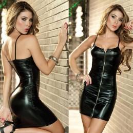 Erotické sexy lesklé party šaty se zipem