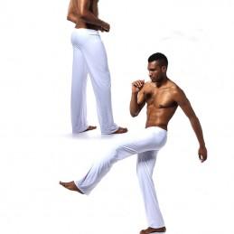 Pánské pyžamové kalhoty, chladivé na spaní bílé
