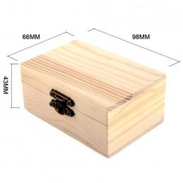 Dřevěná dárková krabička na manžetové knoflíčky