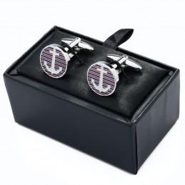 Levná černá dárková krabička na manžetové knoflíčky