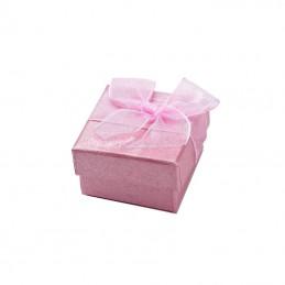 Darčeková trblietavá škatuľa na prstienok