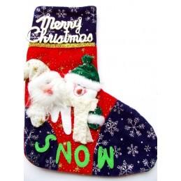 Vianočná dekorácia pančucha na zavesenie Merry Christmas