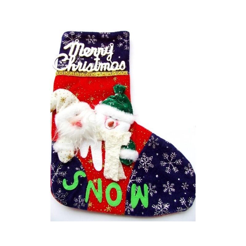 Vánoční dekorace punčocha na zavěšení Merry Christmas