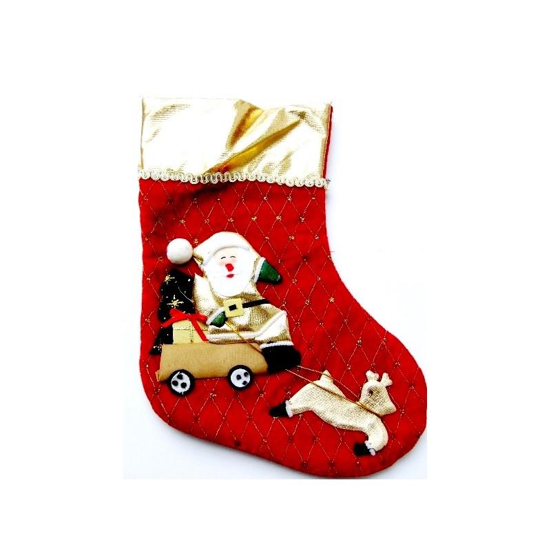 Vianočná pančucha na krb so Santom