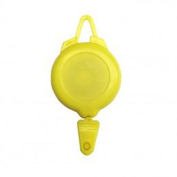 Rollery, držáky na skipas, permanentku, navijákem, plast žlutý