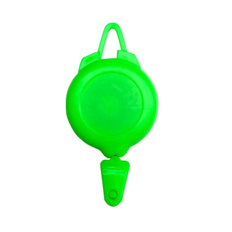 Rollery, držáky na skipas, permanentku, navijákem, plast světle zelený
