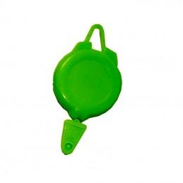 Rollery, držáky na skipas, permanentku, navijákem, plast zelený