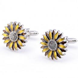 Manžetové knoflíčky květina slunečnice