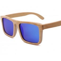 Bambusové sluneční brýle Nerd s barevnými skly