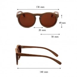 Dřevěné sluneční brýle Havana s barevnými skly
