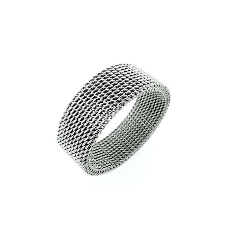 Prsten nerezový spletené drátky, drátěnka