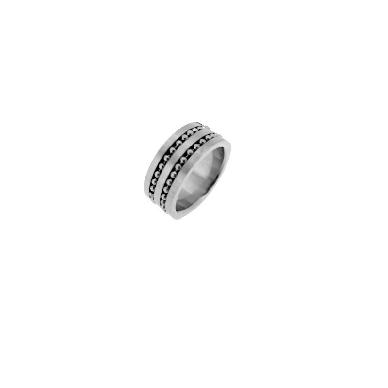 Prsten z chirurgické oceli design ložisko
