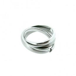 Prsteň tri spojené krúžky z nerezovej ocele