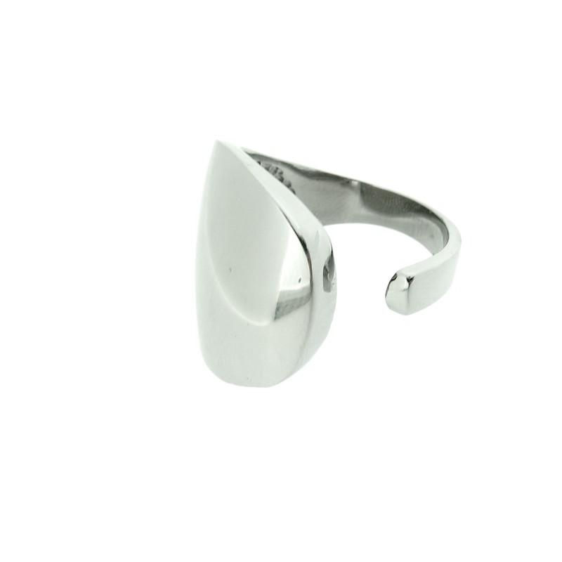 Prsten tvarovatelný na palec, lesklý ocelový