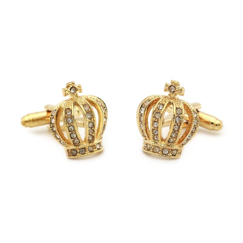 Manžetové knoflíčky královská koruna zlatá