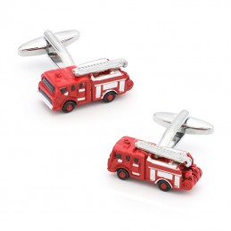 Manžetové knoflíčky červené hasičské auto, požárník