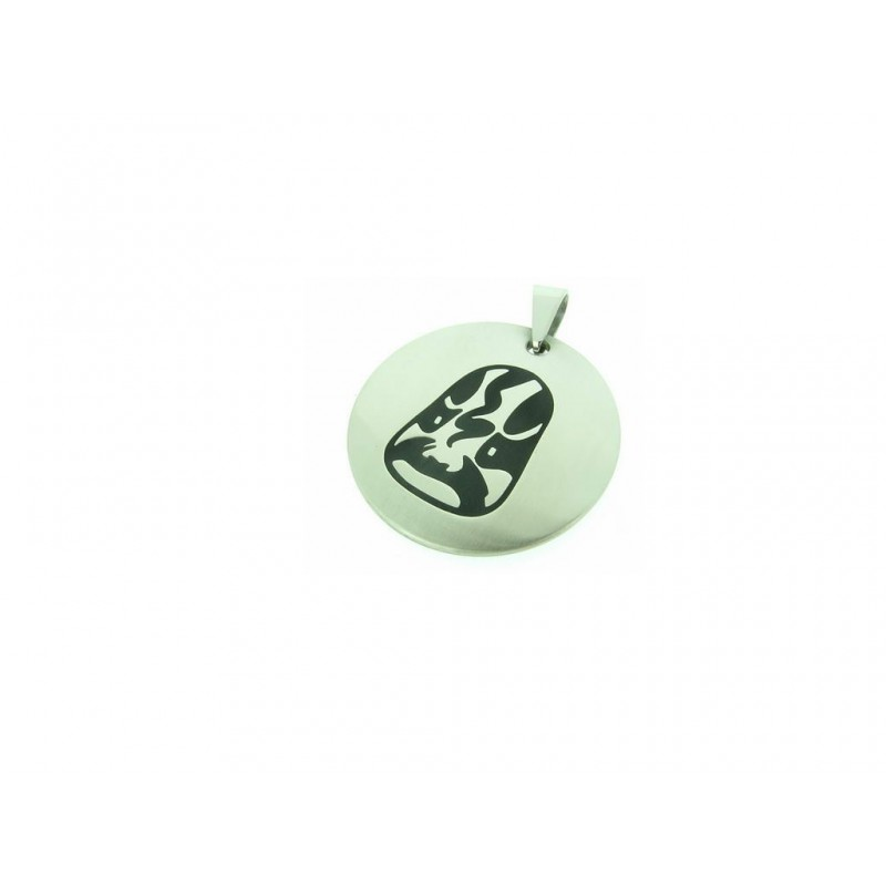 Amulet ocelový s černým motivem