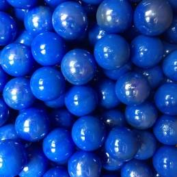 Skleněné cvrnkací, dekorační kuličky 17mm modré