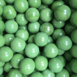 Skleněné cvrnkací, dekorační kuličky 17mm zelené