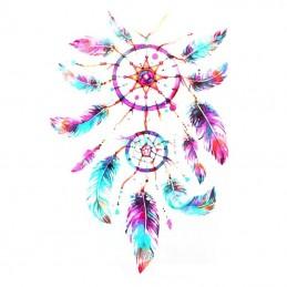 barevné dočasné tetování na záda, lopatku, lýtko, lapač snů, peříčka