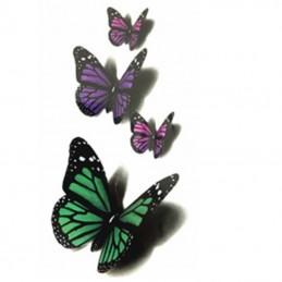 Dočasné nalepovací tetování motýlci, fialová, zelená