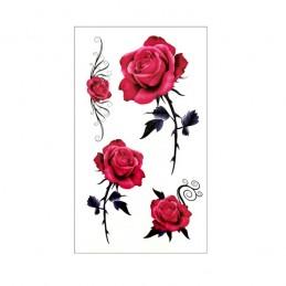 Dočasné barevné nalepovací tetování růže, rose