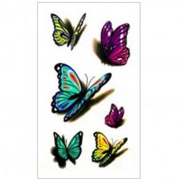 Jednorázové barevné nalepovací tetování motýli