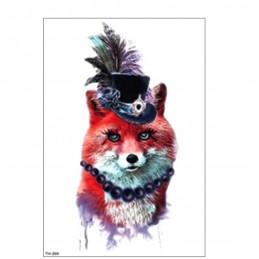 Dočasné barevné nalepovací tetování pohádková liška