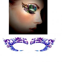 Vodeodolné jednorazové dočasné tetovanie na oči