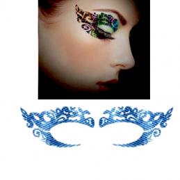 Voděodolné jednorázové dočasné tetování na oči denim