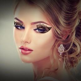 Vodeodolné jednorazové dočasné očné tetovanie čierna čipka