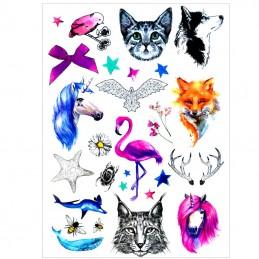 Dočasné nalepovacie tetovanie farebné, detské motívy, zvieratká, príroda