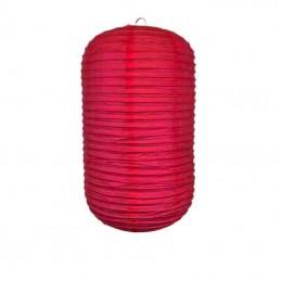 Lampión party, japonský, dekoratívny, oválny, červený 33x21cm