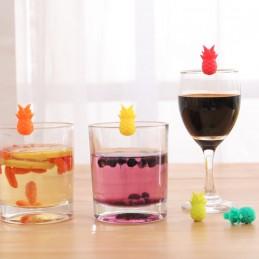 Označovací party ananas, označovač skleničky, hrnku, balení 6ks