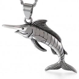 Veľký prívesok nerezový mečúň, merlin, ryba