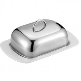 Maselniczka metal i porcelana