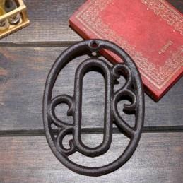 Liatinové, železné číslo 0, dekorácie na dom, domové číslo na klinec