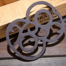 Litinové, železné číslo 6, dekorace na dům, domovní číslo na hřebík