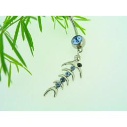 Piercing ocelový přívěskem Fishbone