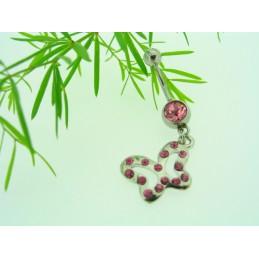 Piercing ocelový s přívěskem Motýl