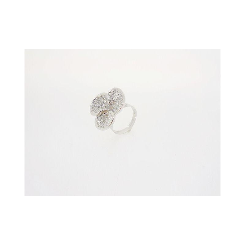 Prsten Kytka se zirkony