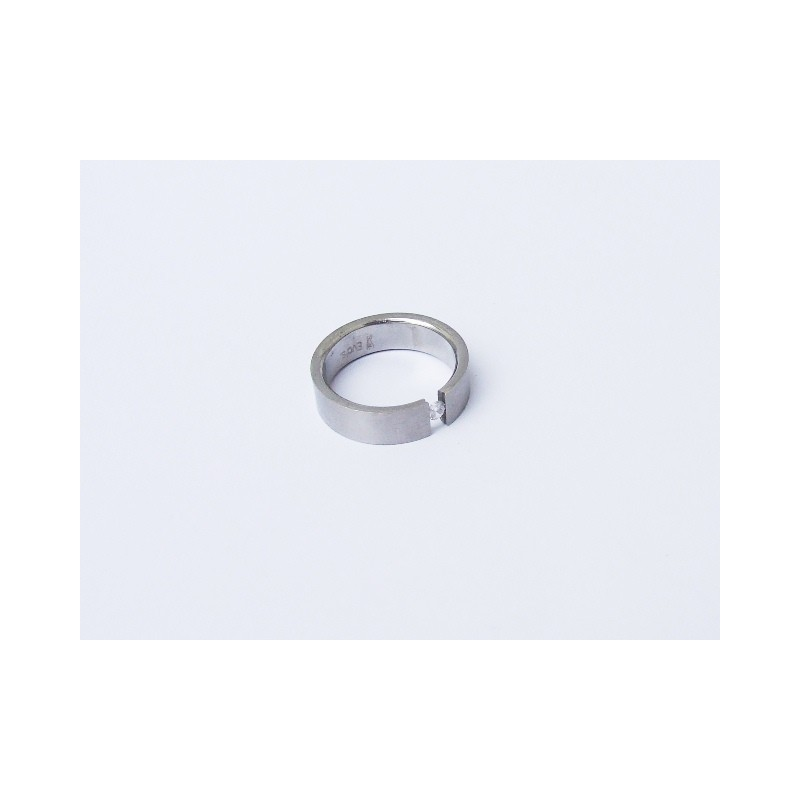 Prsten ocel  s kamínkem