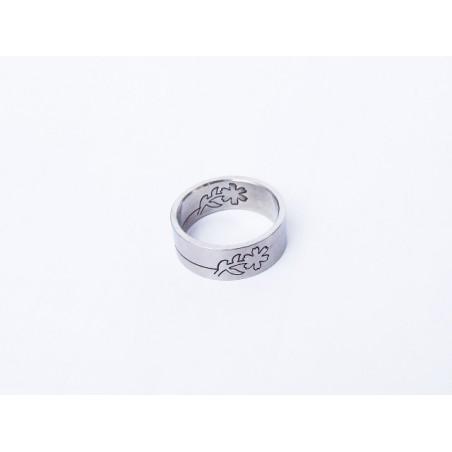 Prsten ocelový Kytka